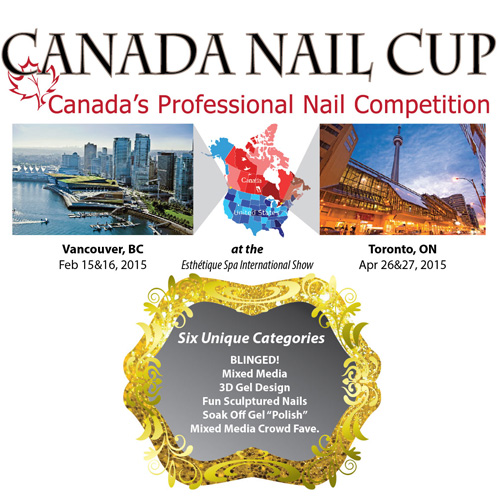 Schedule of Events for the 2015 Canada Nail Cup