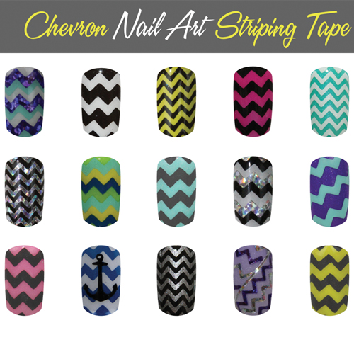 Nail Art How To: Chevron Stripes With So Gel Striping Tape
