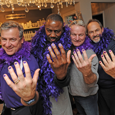 Nail News: Coaches Go Purple to Support Domestic Violence Awareness