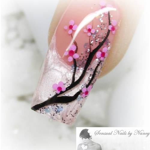 Nail Art Tutorial: Cherry Blossom Nails