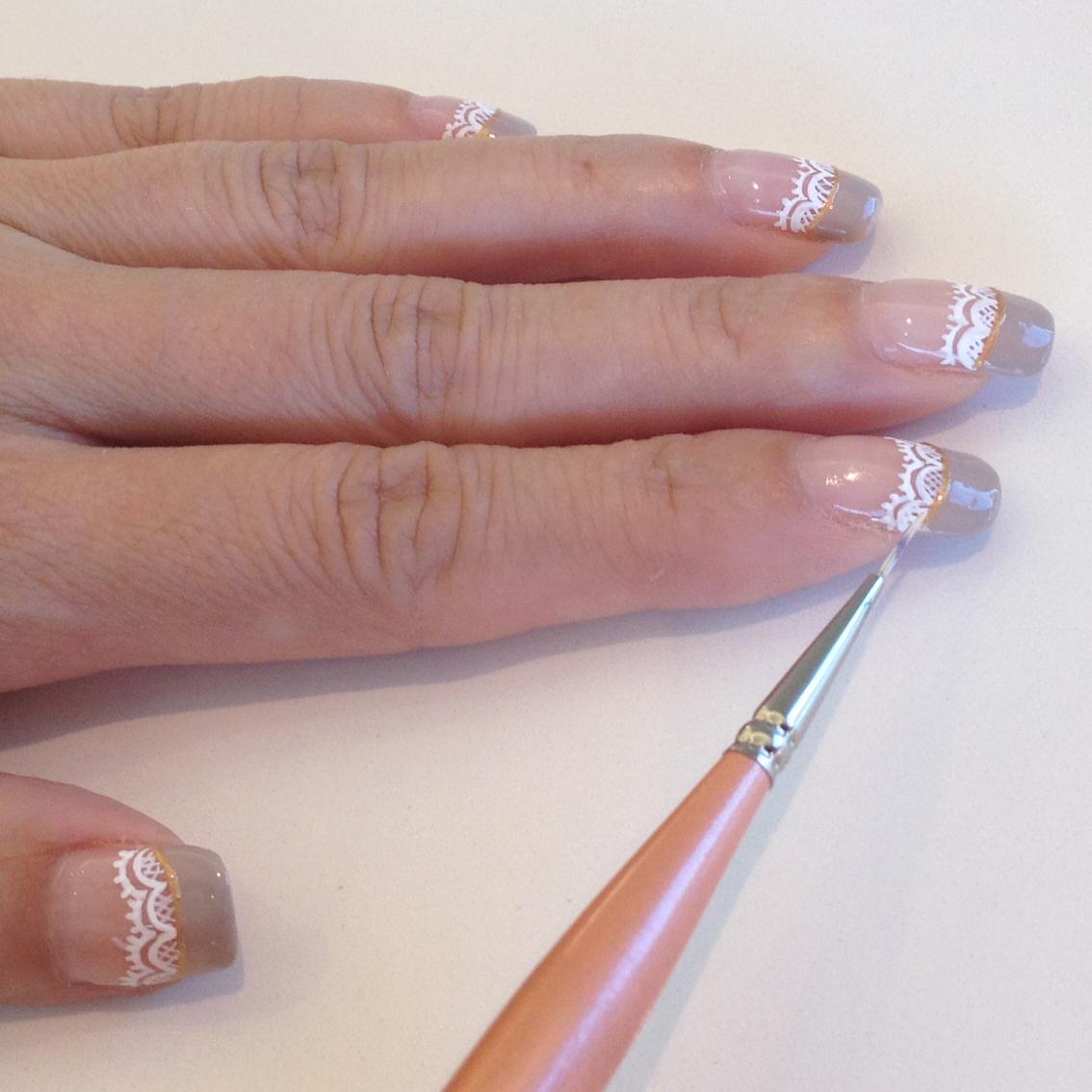 Nail Art Tutorial: Lace Wedding Nails