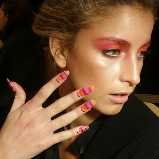 Stripes and Cuticle Tattoos at Miriam Budet