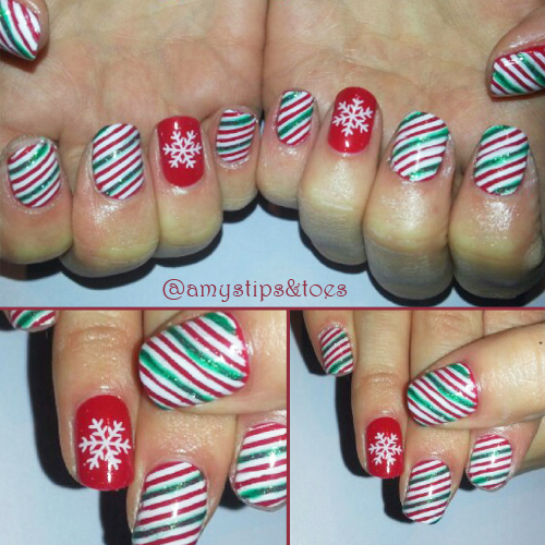 Nail Art Tutorial: Candy Cane Striped Nails
