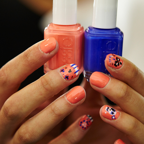 NYFW Nail Art How To: Essie Sugar Skull Nails