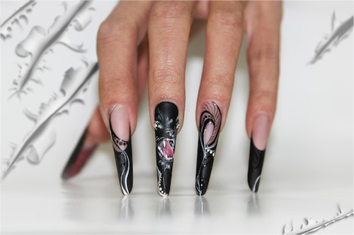 Nail Art Tutorial: Fierce Cat Nails