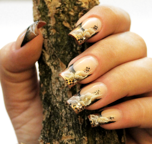 Nail Art How To: Fall Floral French Nails