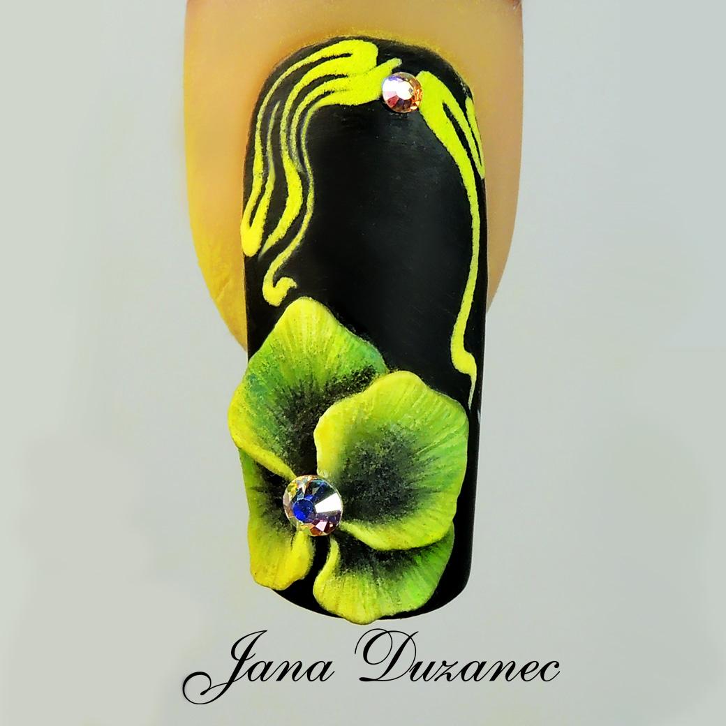 Nail Art Tutorial: Shaded Yellow Flowers