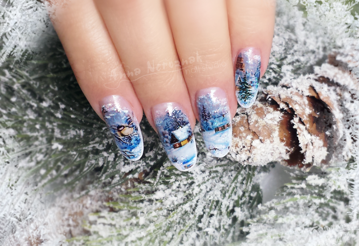 Nail Art How To: Winter Story Nails