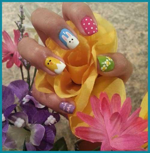 Nail Art Tutorial: Baby Animal Easter Nails