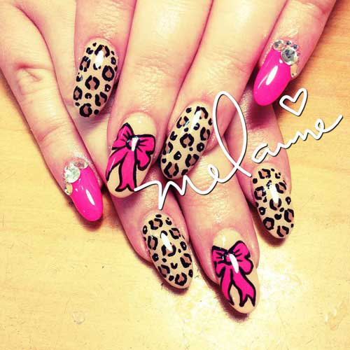 Nail Art Tutorial: Bows and Leopard Nails