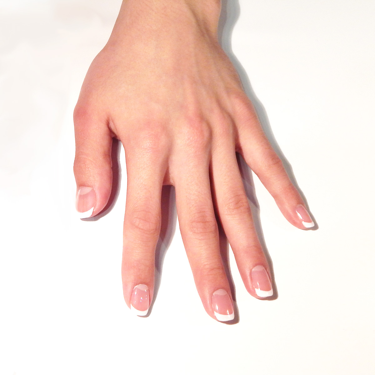 How to Do Pink-and-White Gel Nails