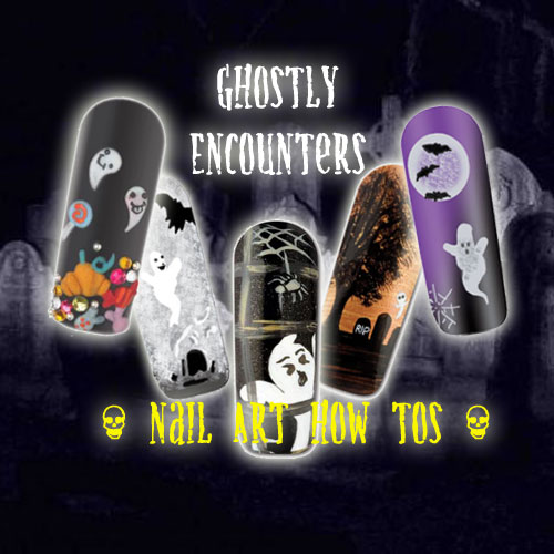 Nail Art How To: Ghostly Encounters!