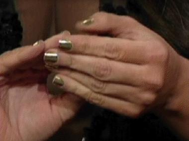 Kim Kardashian Wows David Letterman with Golden Lightning Minx