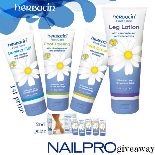 Giveaway: Win Herbacin Foot Care Lotions!