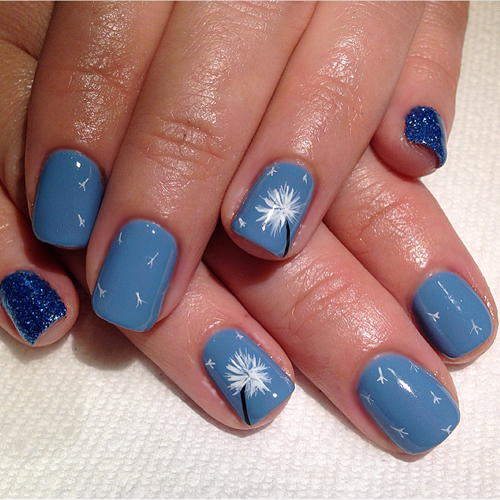 Nail Art Tutorial: Dandelion Nails