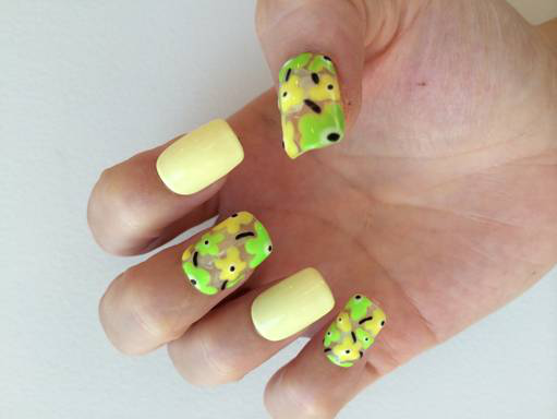 Nail Art Tutorial: Lemon-Lime Petals