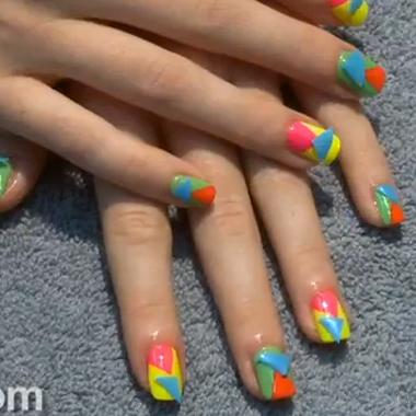 Nail Art Video: Neon Nails (June 2012): Behind the Nail Pros