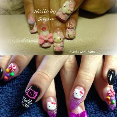 Hello Kitty Nail Art Contest Winners