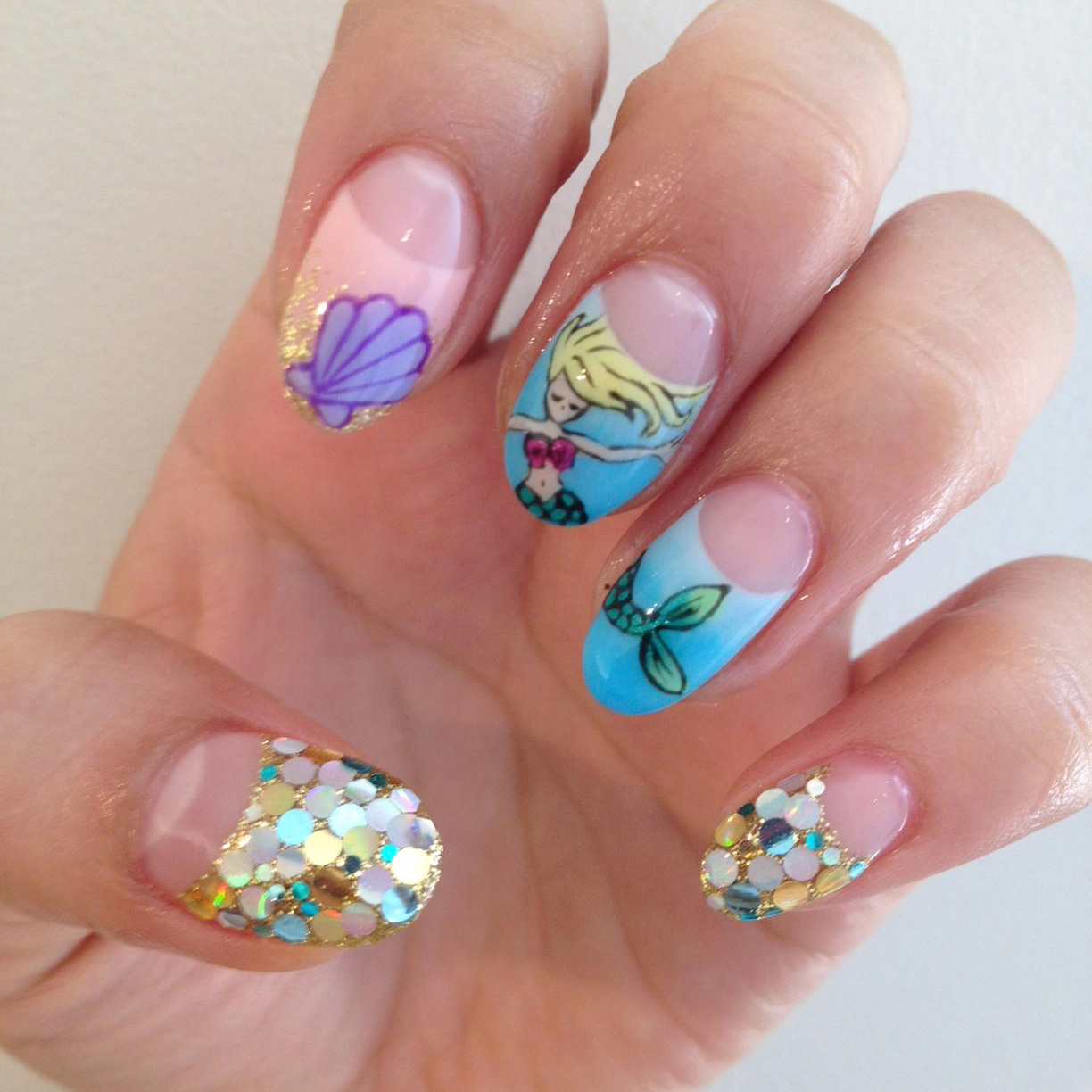 Nail Art Tutorial: Mermaid Dreams
