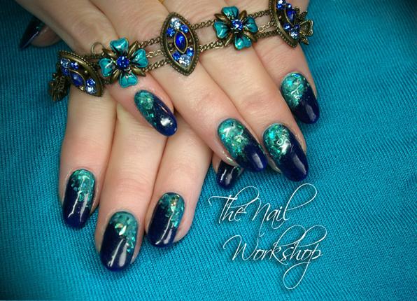 Nail Art Tutorial: Teal Jewel Nails