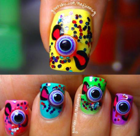 Nail Art How To: 3D EyeBall Candy Design