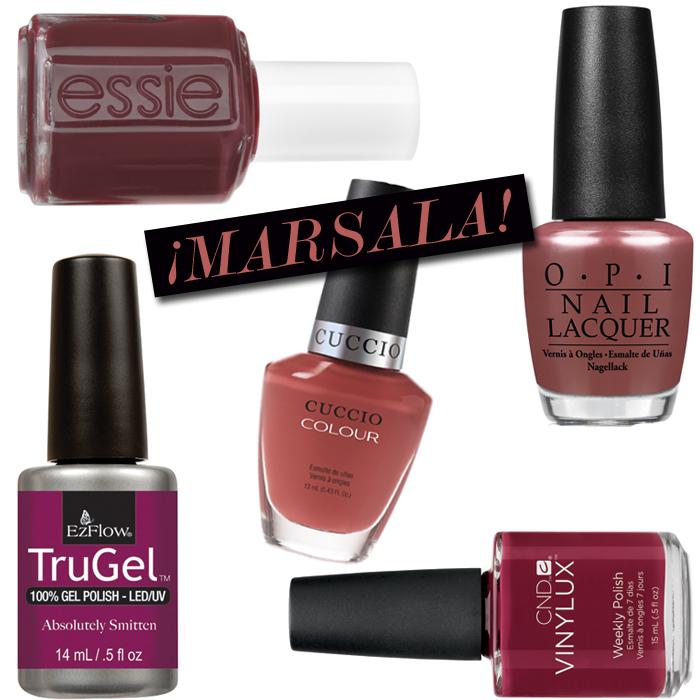 9 Ways to Use Pantone\'s Marsala on Nails