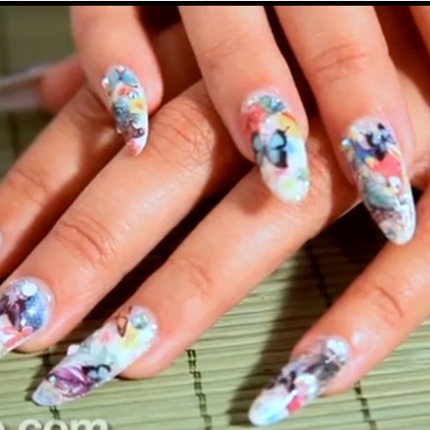 Nail Art How To: Flowers, Butterflies & Angels (October 2013) Behind the Nail Pros