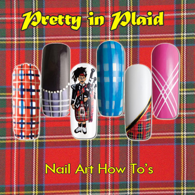 Nail Art How To: Pretty in Plaids!