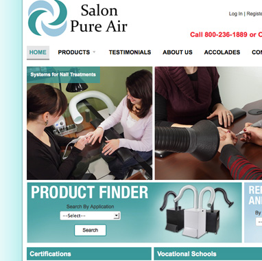 Salon Pure Air Website Gets a Makeover