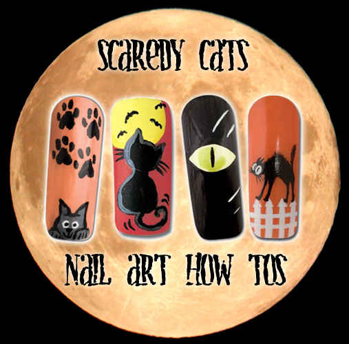 Nail Art How To: Scaredy Cats