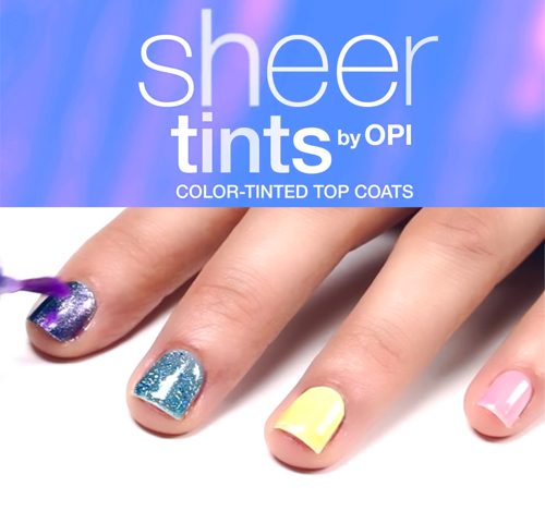 How To Create Nail Art With OPI Sheer Tints