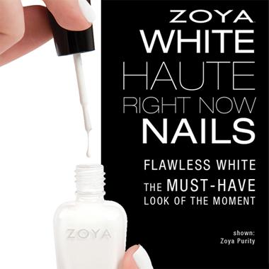 Nail Art How To: White Haute Zoya Nails