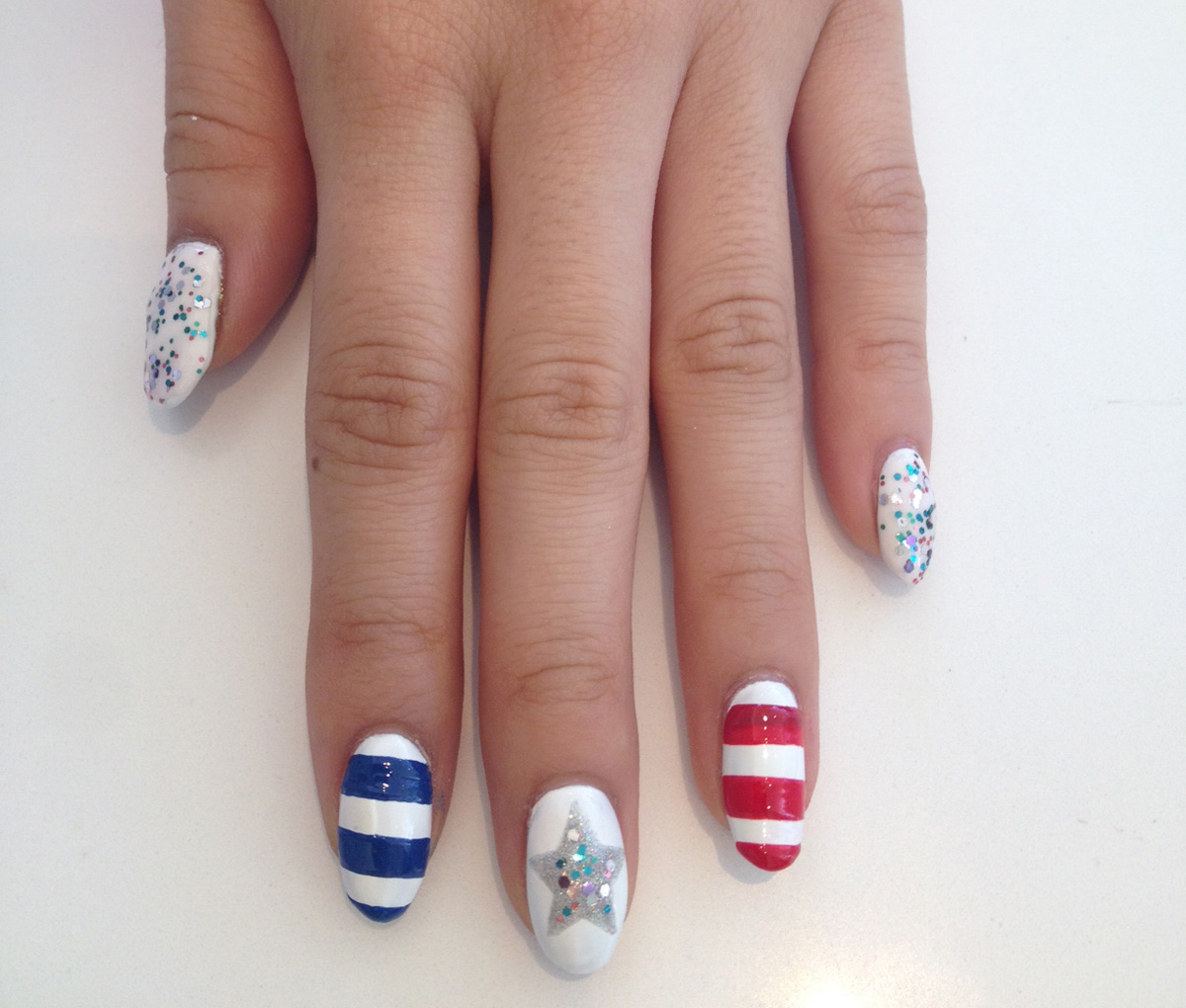 Nail Polish On Pinky Finger Meaning: Nail Art Tutorial: Patriotic Stars And Stripes