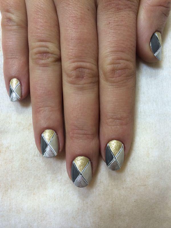 Nail Art Tutorial, Nail Designs, Nail Art How To, Metallic Nails