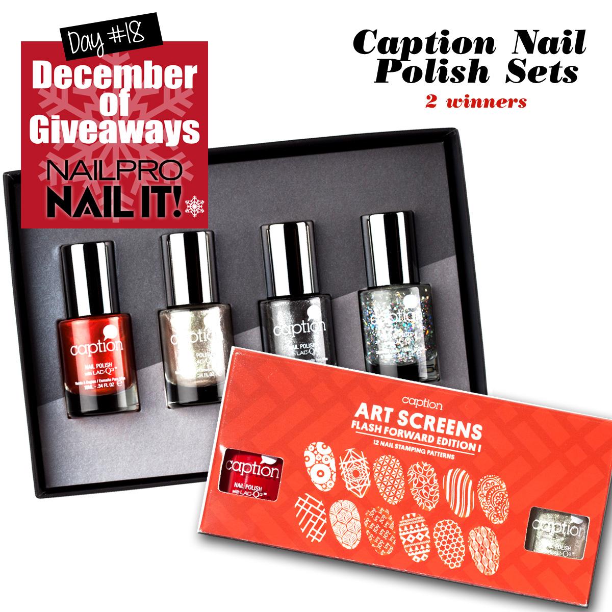 Giveaway: Young Nails\' Caption Polish Sets - Nailpro