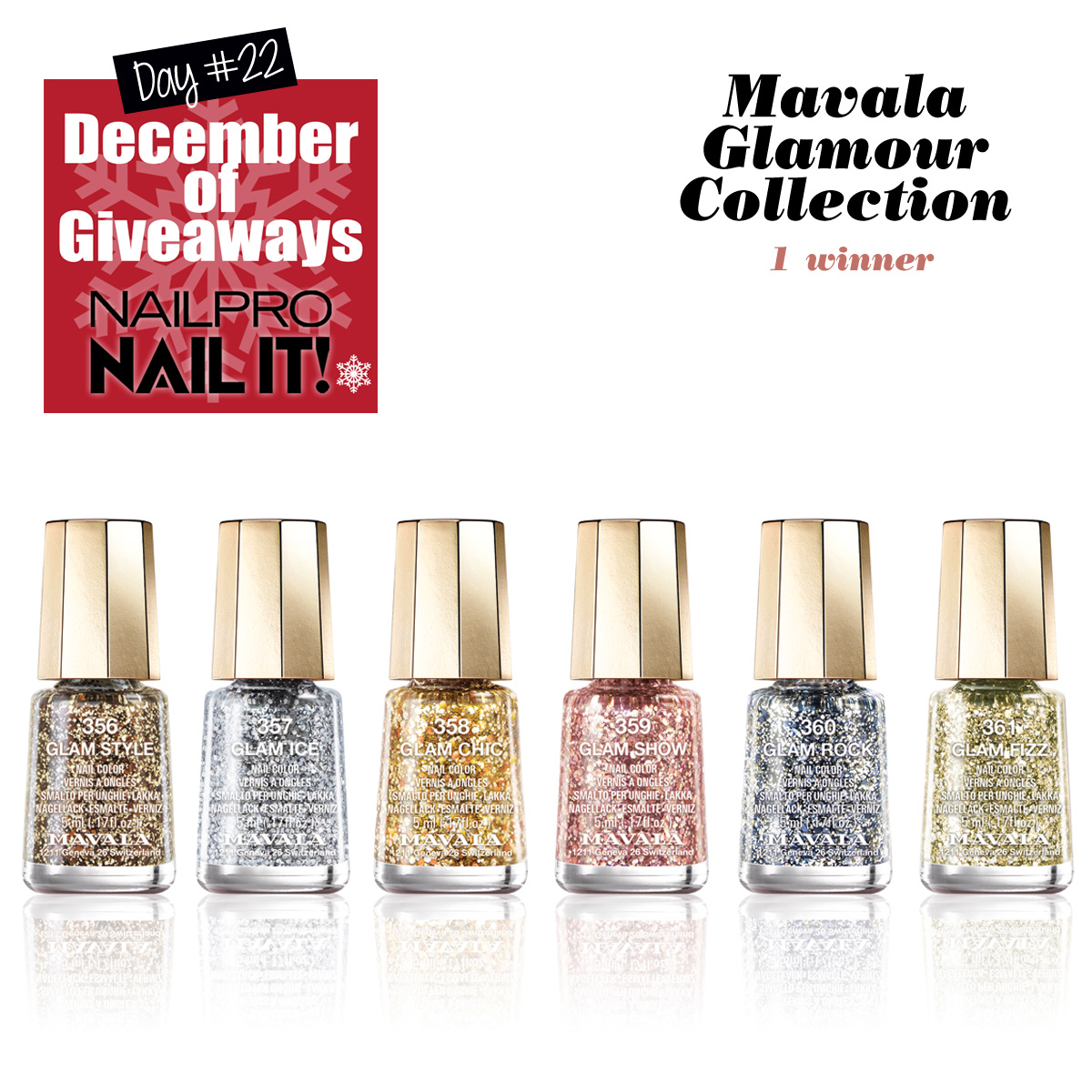 Giveaway Mavala Glamour Collection