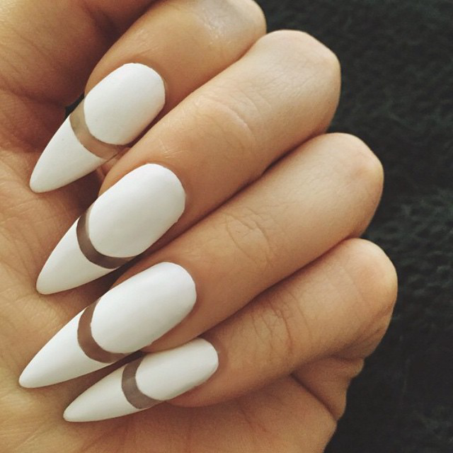 Gallery: Negative Space Nails, Striped Nails, And More