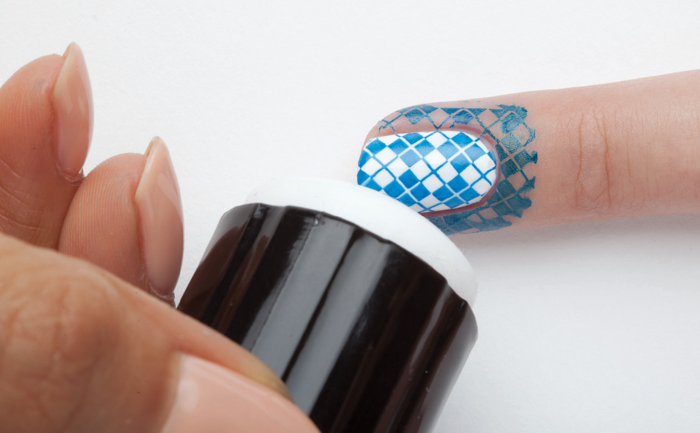 Position The Stamper Over Nail So Design Is Aligned Properly Note This Especially Important When Stamping French Tips Or Patterns That Must Be