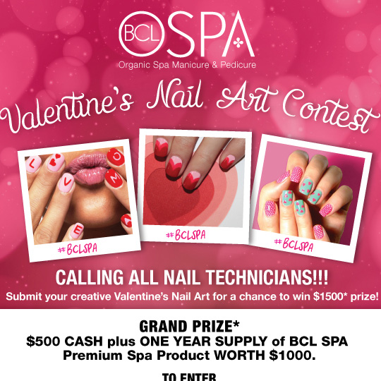 Bcl Spa Valentines Day Nail Art Contest