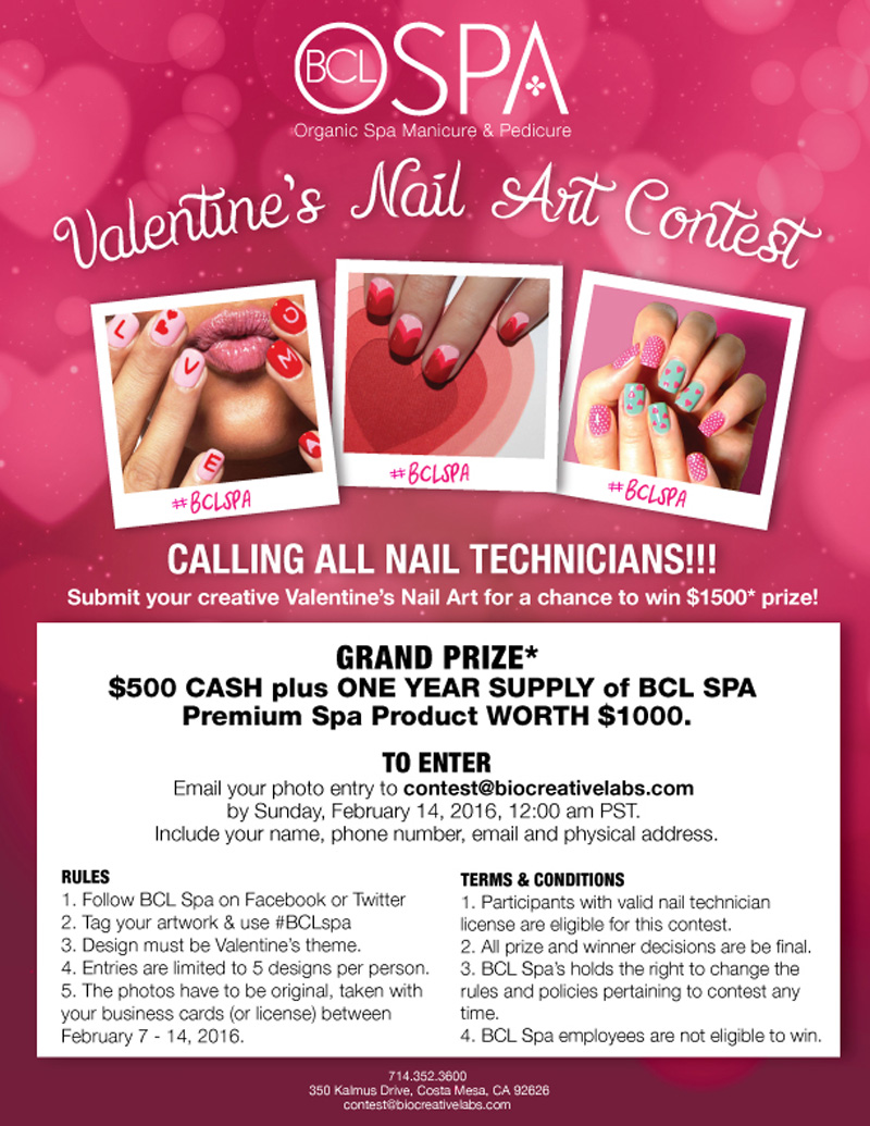 BCL Spa Valentine\'s Day Nail Art Contest
