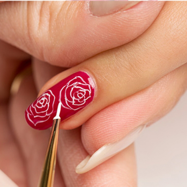 Nail Art Tutorial Roses In Bloom For Valentines Day Using Gelish