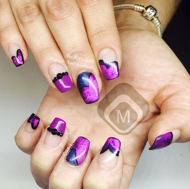 Nail Art Tutorial: Hearts and Foil