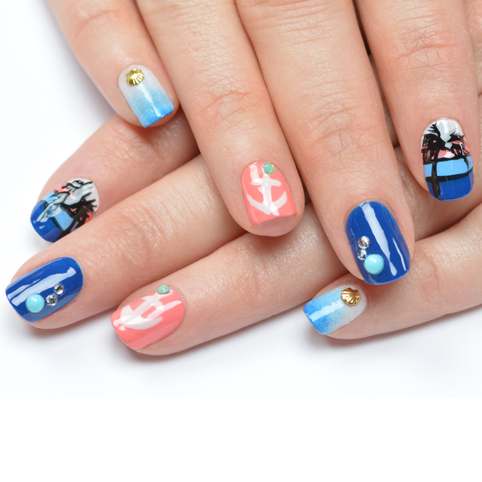 Nail Art Tutorial: Nautical Nail Art Using Cuccio