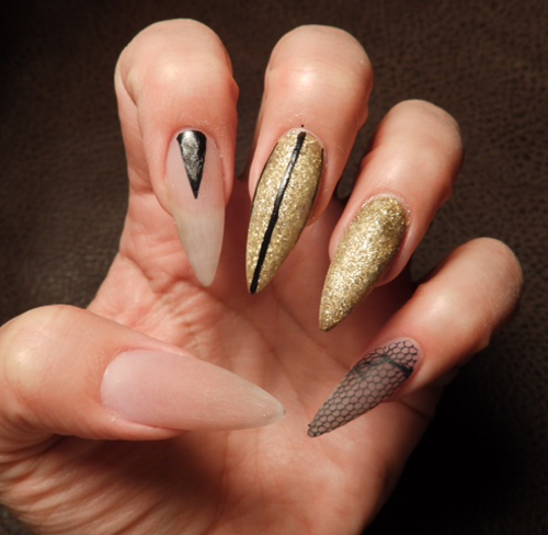 Nail Art Tutorial Nail Design Nail Art How To Stiletto Bling Nails