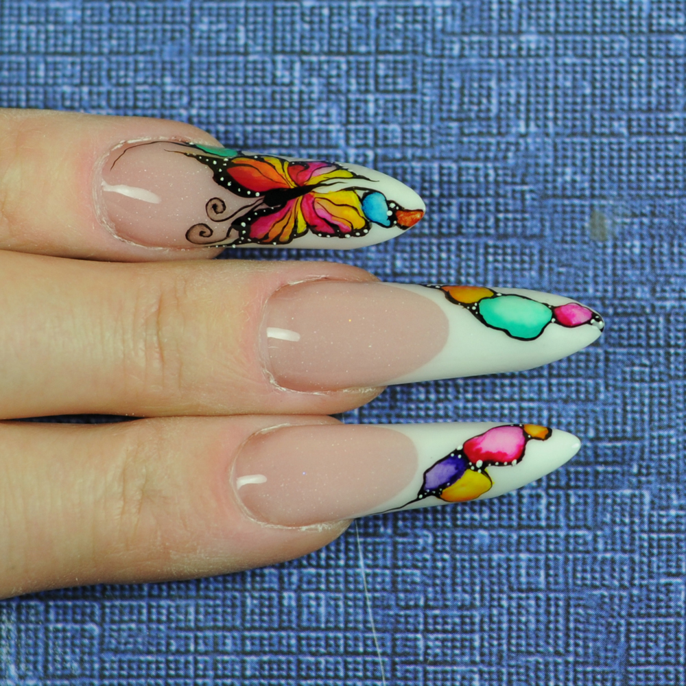 Butterfly Nail Designs Step By Step: Nail Art Tutorial: Spring Butterfly Nails