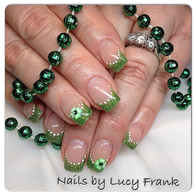 Nail art nail designs st patricks day nails nails by lucy franck instagram lucyfrank15 prinsesfo Images