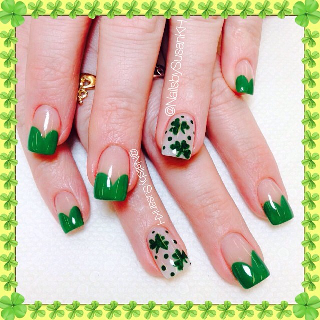 Nail Art Nail Designs St Patricks Day Nails