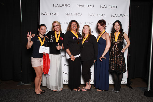 Perfect Match: One Model, Two Competitors Winners | IBS 2016 NAILPRO Cup Winners; check it out at http://www.nailpro.com/nailpro-cup-2016