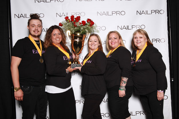 NAILPRO Cup Champions, Team EzFlow | IBS 2016 NAILPRO Cup Winners; check it out at http://www.nailpro.com/nailpro-cup-2016