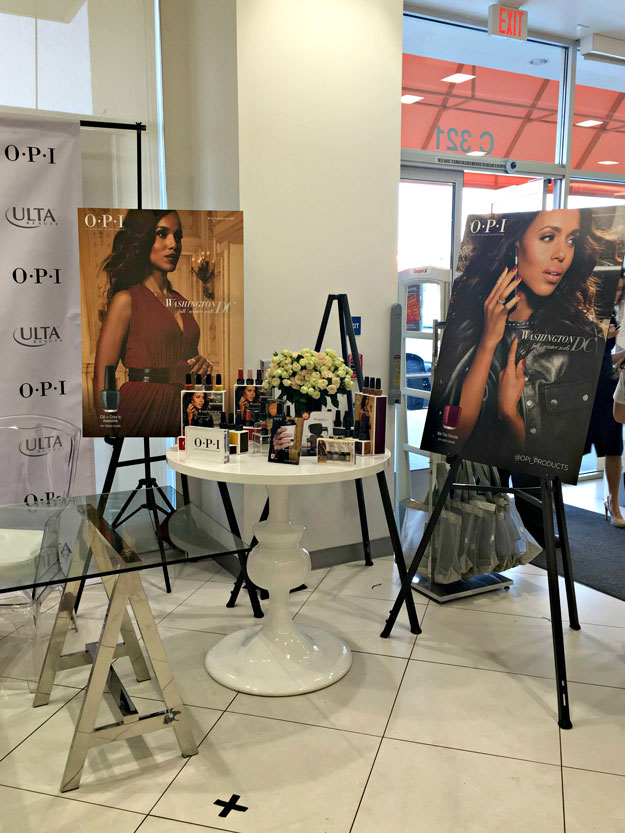 "At the ULTA meet and greet in Koreatown, Los Angeles, CA. | Kerry Washington x OPI Launch ""Washington DC"" Lacquer Collection; see it at  http://www.nailitmag.com/kerry-washington-opi"